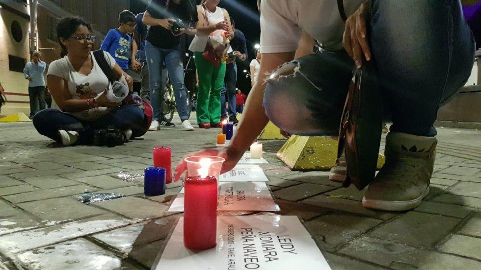 Cali también se movilizó en la velatón en contra de la impunidad por el asesinato de líderes sociales.