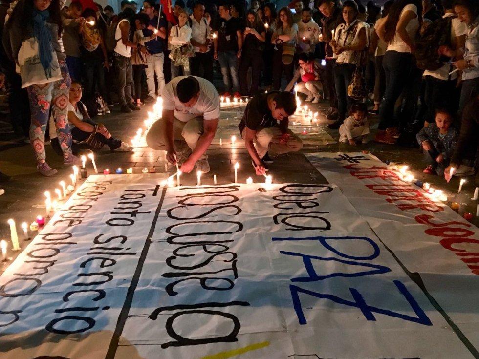 Cauca, uno de los departamentos más afectados con el asesinato de líderes sociales se  unió para rechazar la violencia.