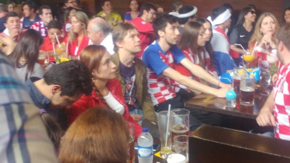 Tristeza en los rostros de los hinchas croatas