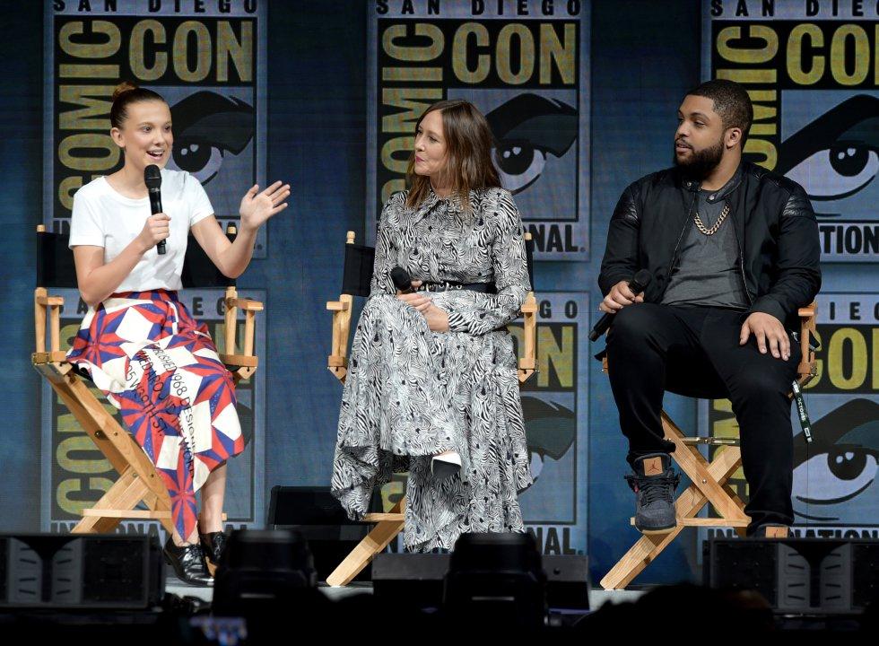 illie Bobby Brown, Vera Farmiga, O'Shea Jackson Jr., en el panel deComic-Con Internacional 2018