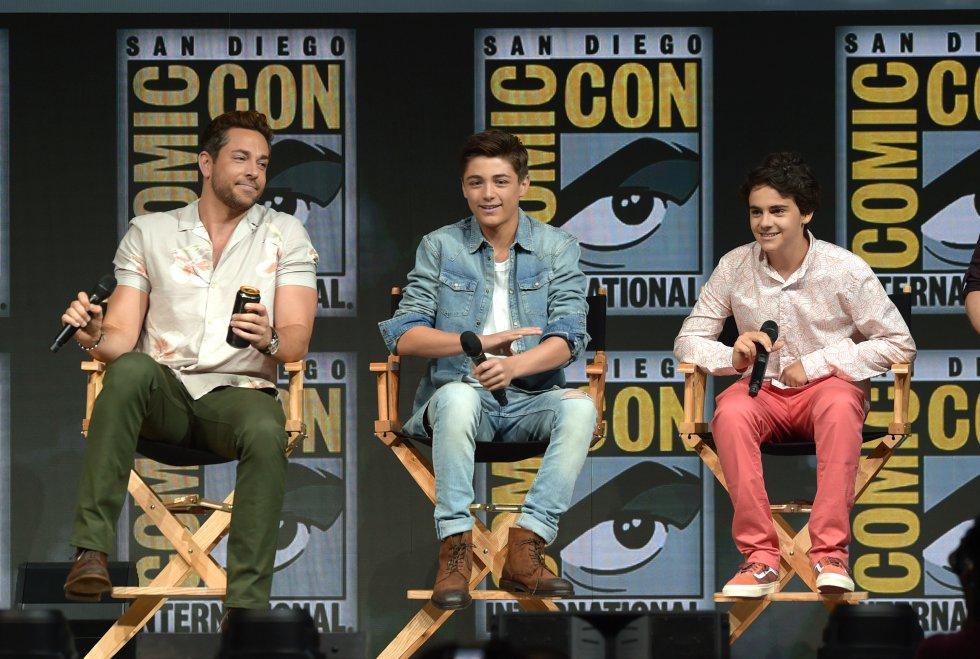 Los personajes princiapales de Shazam, Zachary Levi, Asher Angel, Jack Dylan Grazer, hablan de la pelicula de Warner Bros.