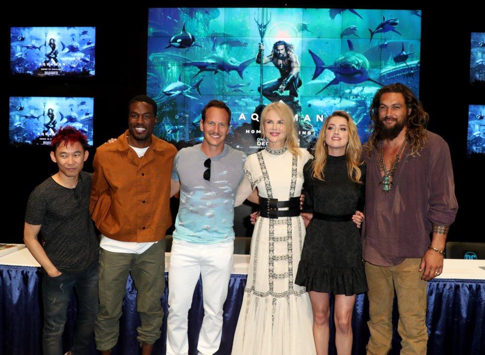 Elenco de la película Aquaman en Comic-Con Internacional 2018