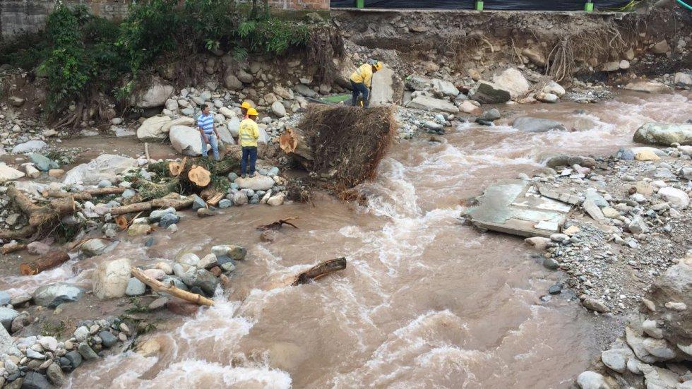 Las lluvias han arrasado varias viviendas y los habitantes permanecen bajo la incertidumbre de una evacuación o una nueva calamidad.