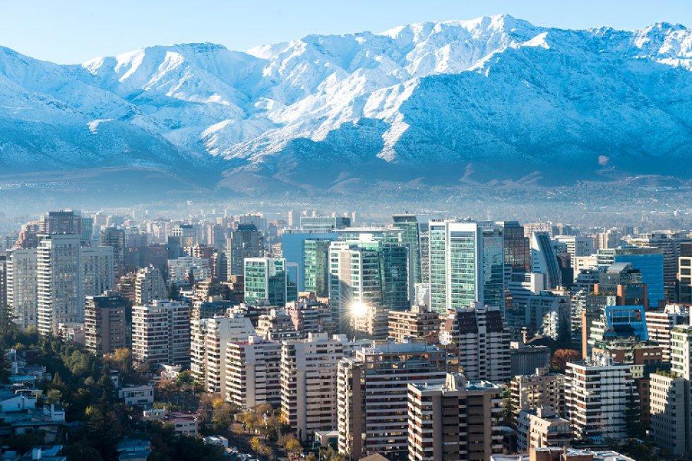 El mirador del Costanera Center, ubicado en el observatorio del rascacielos más alto de América Latina hará que la fotografía parezca un sueño.