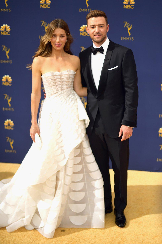 Jessica Biel y Justin TimberlakeElla de Ralph & Russo y él de Tom Ford.