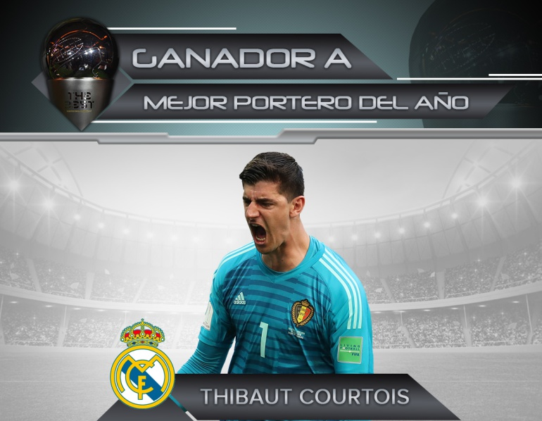 courtois the bests: Courtois, mejor arquero en los premios 'The Best'