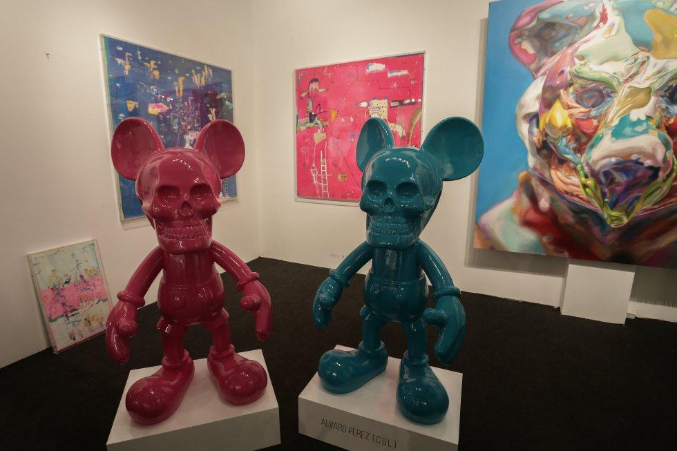 Feria Internacional Bogotá Arte y Cultura. En al foto: Obra de Álvaro Pérez