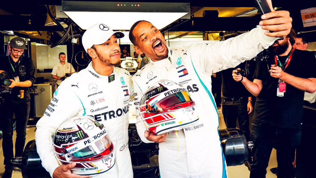 Will Smith secuestró a Hamilton en divertido video para correr en Abu Dhabi