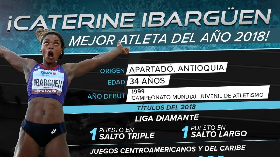 ¡Caterine Ibargüen, premiada como la mejor atleta del mundo!