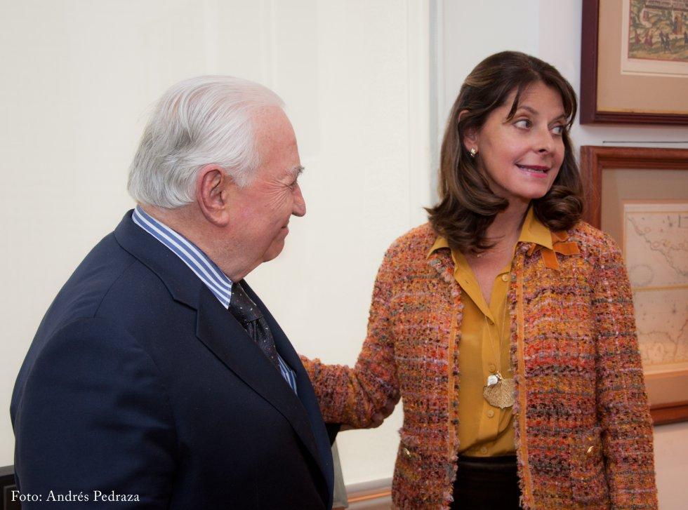 Marta Lucía Ramírez se reúne con el expresidente para conseguir su apoyo y ser candidata presidencial del Partido Conservador.