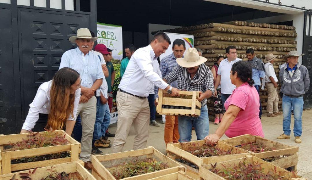 Acuerdo para cultivar fríjol y proteger el bosque en San Juanito, Meta