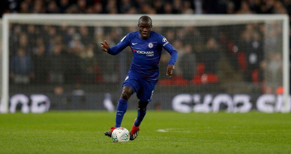 N'golo Kanté, volante del Chelsea.