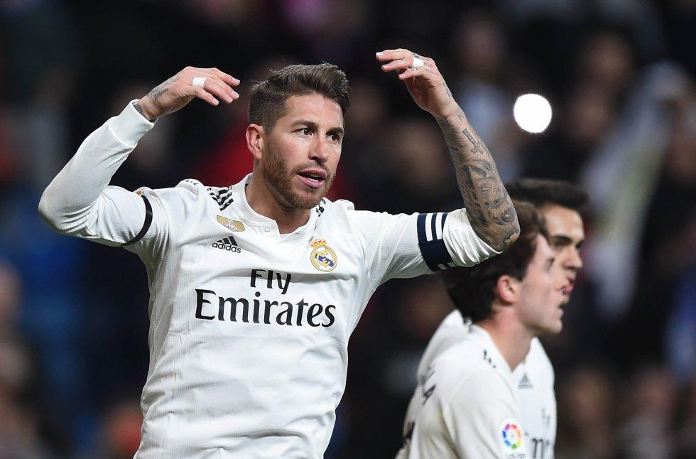 Sergio Ramos, defensor central del Real Madrid.