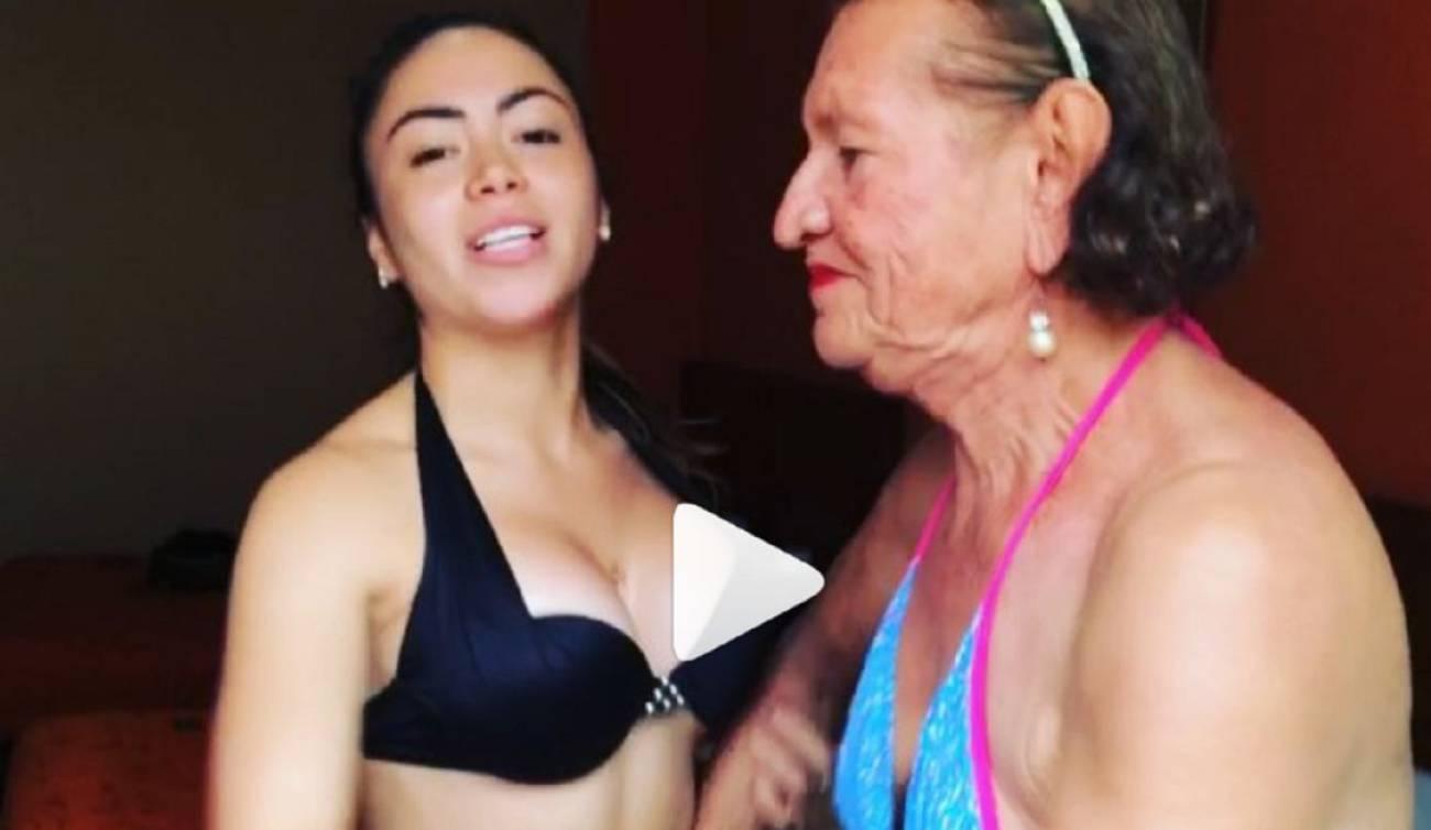 Abuelas Y Nietas Porn video de epa colombia en bikini con la abuela.: Â¡vergonzoso