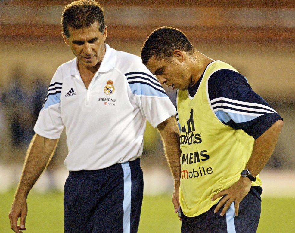 Queiroz en entrenamiento junto a Ronaldo