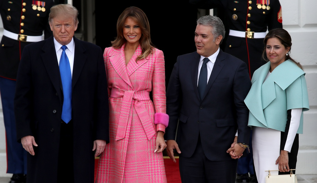 "Donald Trump y Duque: ""Ya verán"" Trump no descarta enviar tropas a Colombia"