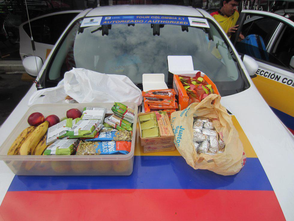 La comida que cargan los equipso colombianos