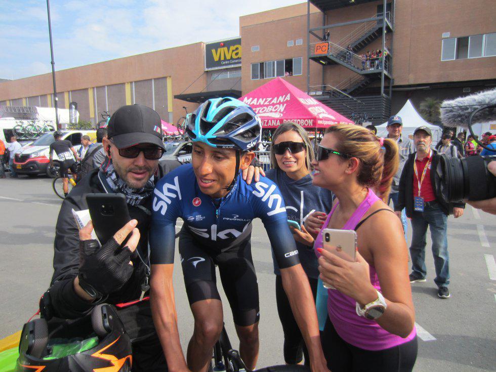 Egan Bernal fue otro de los ciclistas que llamó la atención