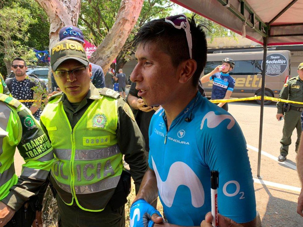 Nairo Quintana después de la cuarta etapa