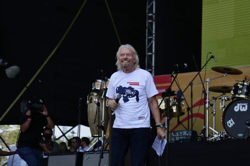 Richard Branson, cabeza del conglomerado empresarial Virgin Group y creador de este concierto.