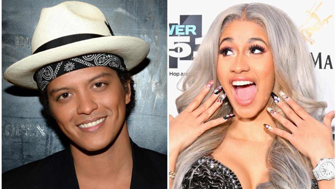 Candente video entre Cardi B y Bruno Mars