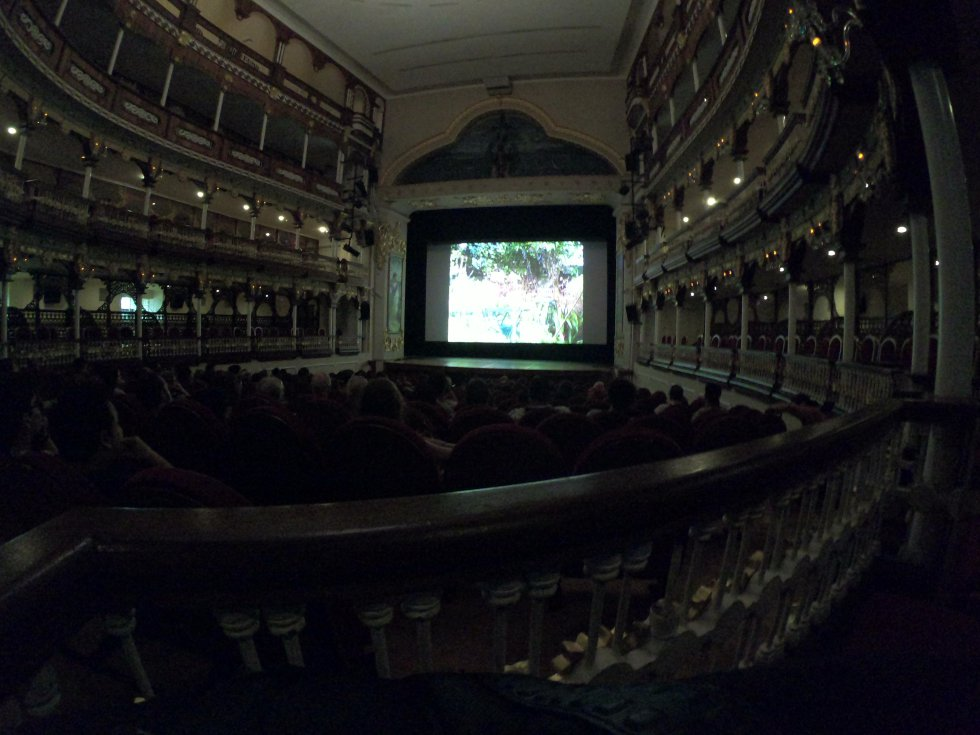 Escenarios como el Teatro Adolfo Mejía son el centro de proyecciones de las 360 proyecciones que estarán en el Ficci