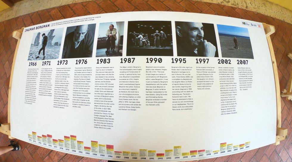 Filmografías como la Igmar Berman son expuestas en los pasillos de las diferente sedes del Ficci 59