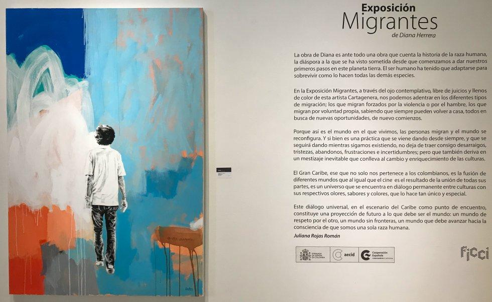Exposición los Migrantes de Diana Herrera
