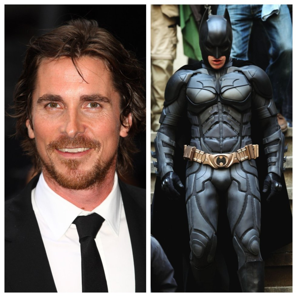 Christian Bale: Batman Begins 2005 y Dark Knight 2008.