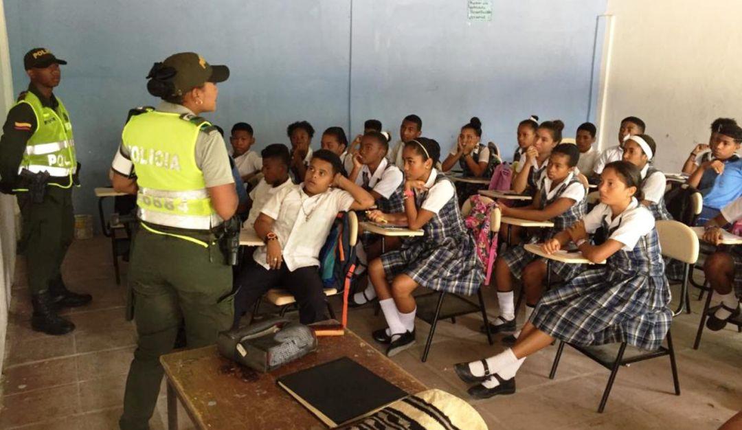 Clemencia Policía Actividad Niños Bolívar: Policía realiza jornada de seguridad en Clemencia, Bolívar