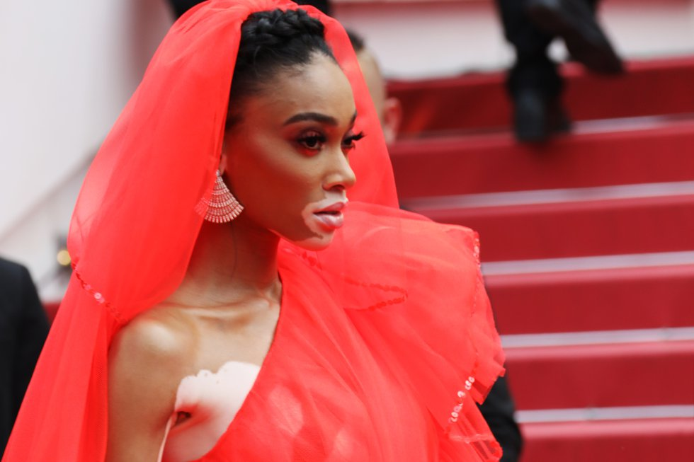 "Winnie Harlow asiste a la proyección de ""Once Upon A Time In Hollywood"" durante el 72º Festival de Cine de Cannes el 21 de mayo de 2019 en Cannes, Francia."
