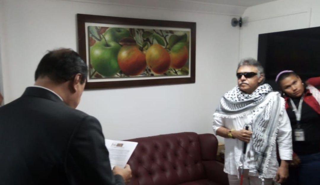 Santrich en la Cámara de Representantes: Jesús Santrich se posesionó como representante a la Cámara