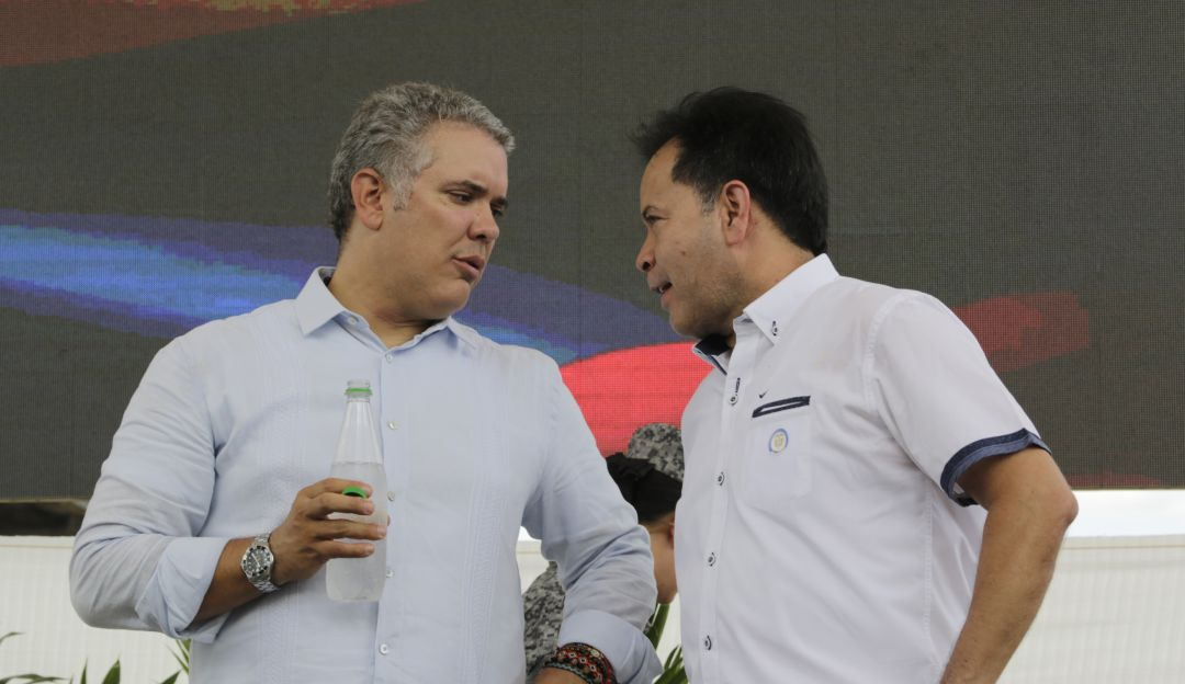 Presidente Duque y Gobernador William Villamizar
