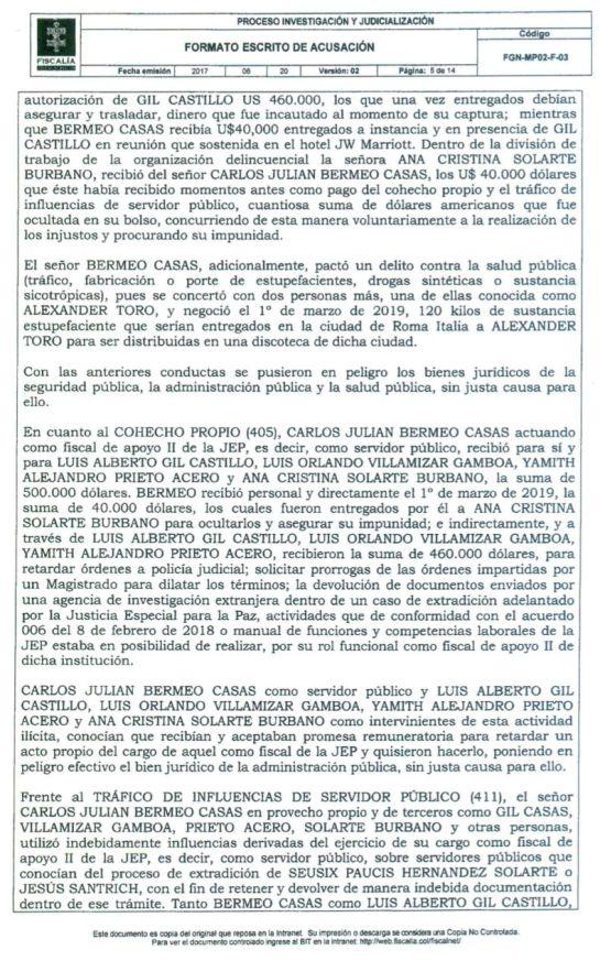 Caso Santrich: Acusación contra el ex fiscal de la JEP excluyó a 'El Tuerto' Gil