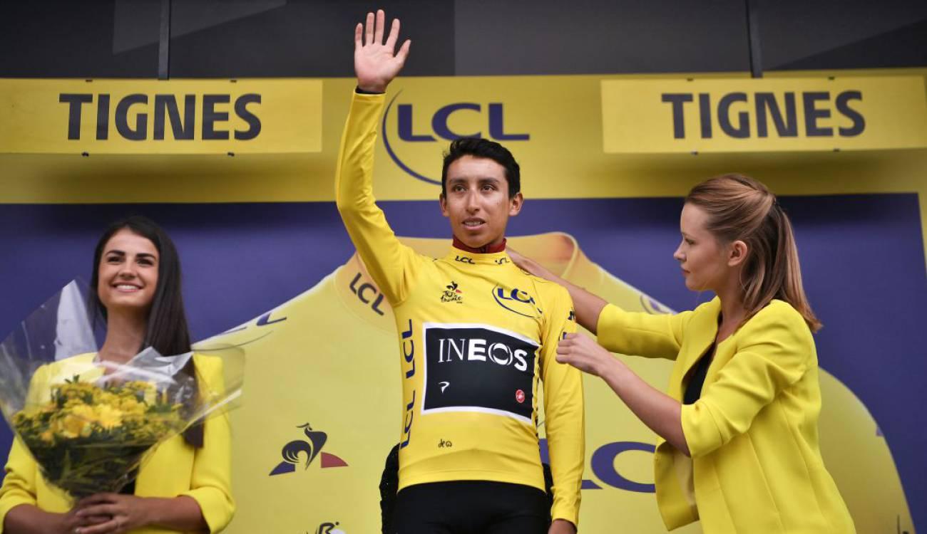 Image result for egan bernal podio en el tour de france