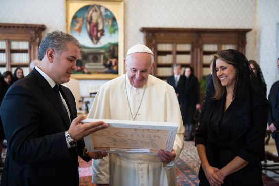 Iván Duque con el Papa Francisco