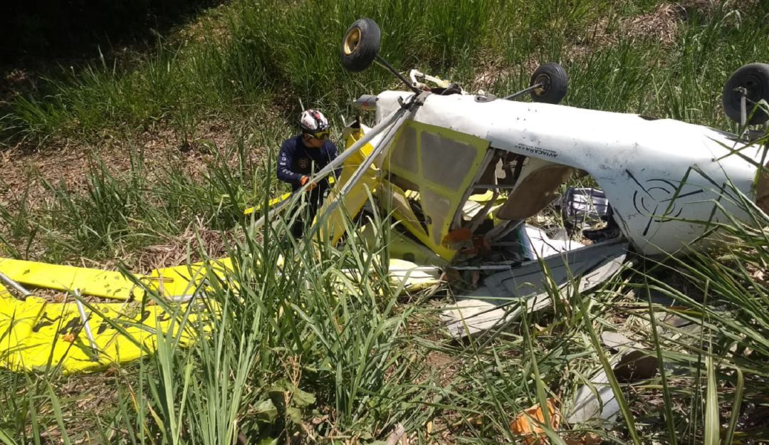 Avioneta accidentada en Viterbo