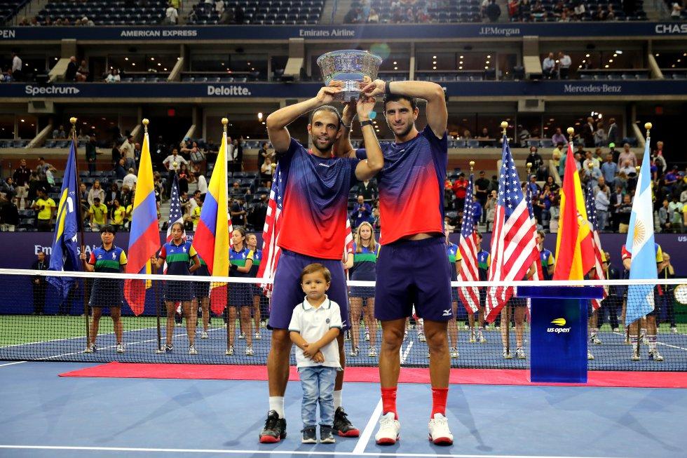 robert farah y juan sebastián cabal campeones del us open: En imágenes: La consagración de Farah y Cabal en el US Open
