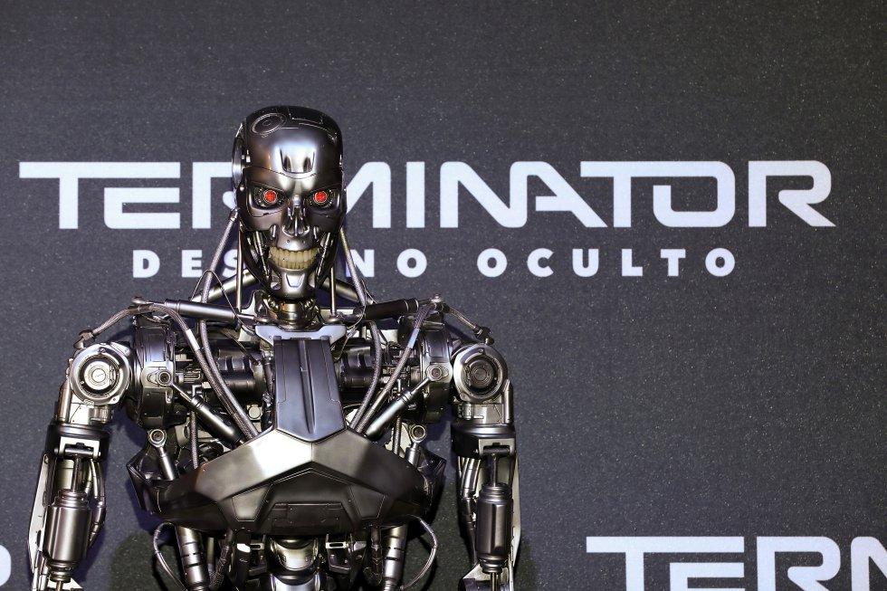 """Una visión general de la atmósfera durante el evento para fanáticos """"Terminator: Dark Fate"""" en Toreo Parque Central en Ciudad de México"""