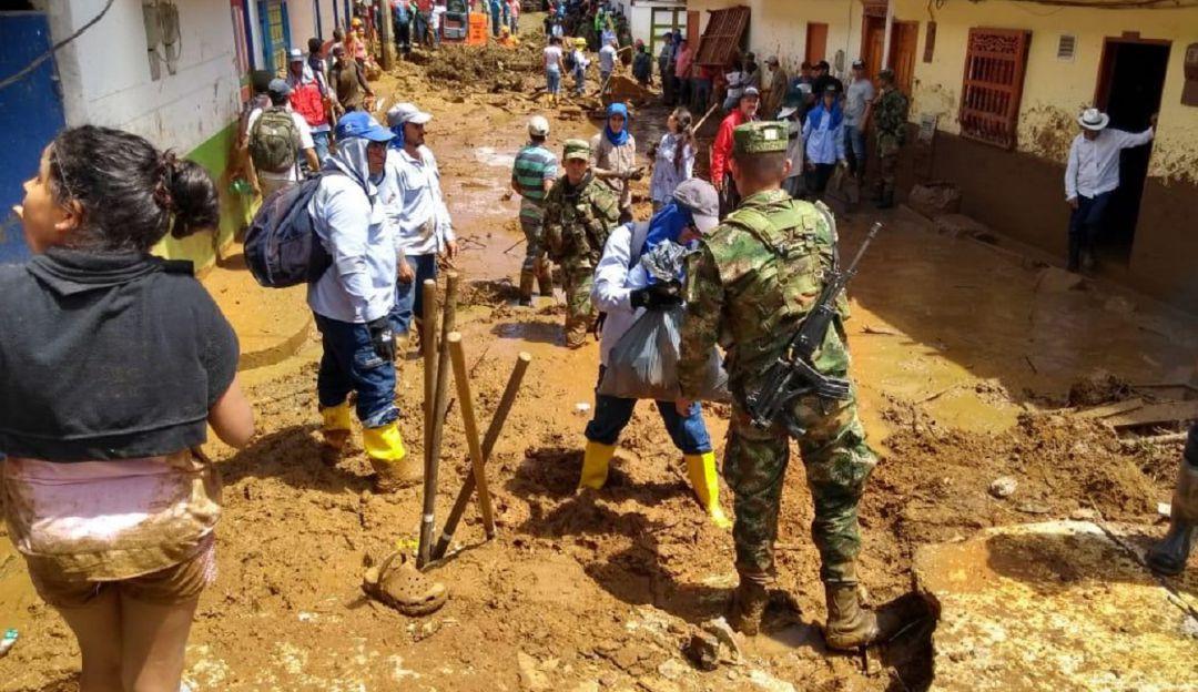 Ejército Nacional custodia zona de desastre en Jericó. - Caracol Radio