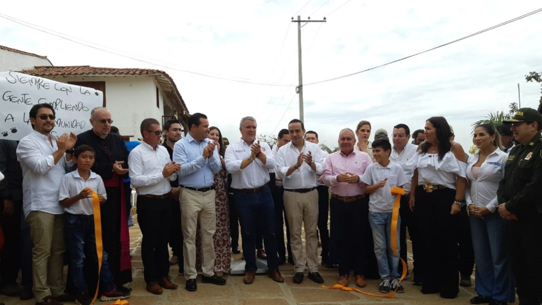 VIDEO: Duque inauguró obras en Barichara