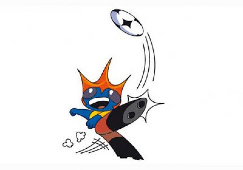 Mascota de la Copa América Colombia 2001. Era un extraterrestre cuyo nombre traducía América al esparanto.
