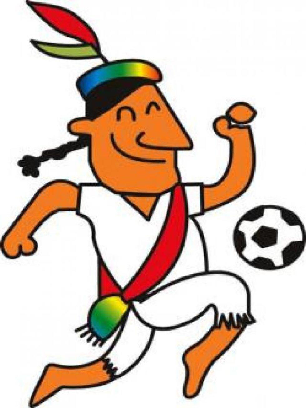 Mascota de la Copa América Perú 2004. Era un dibujo animando representando al Chasqui, mensajero personal del Inca.