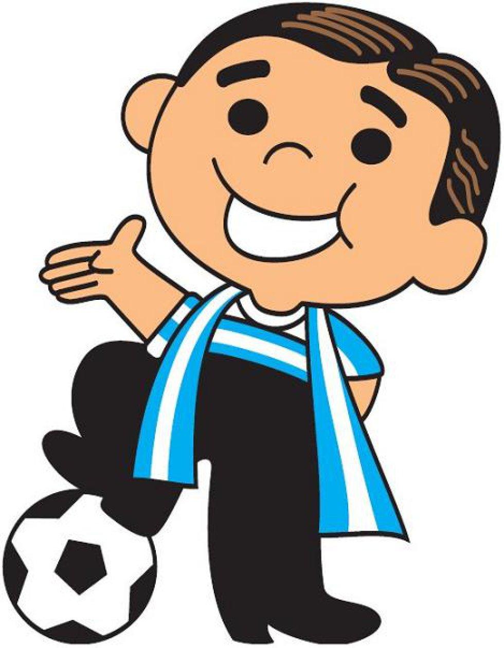 Primera mascota de la Copa América en Argentina 1987. Era una versión infantil del cantante de tango Carlos Gardel.