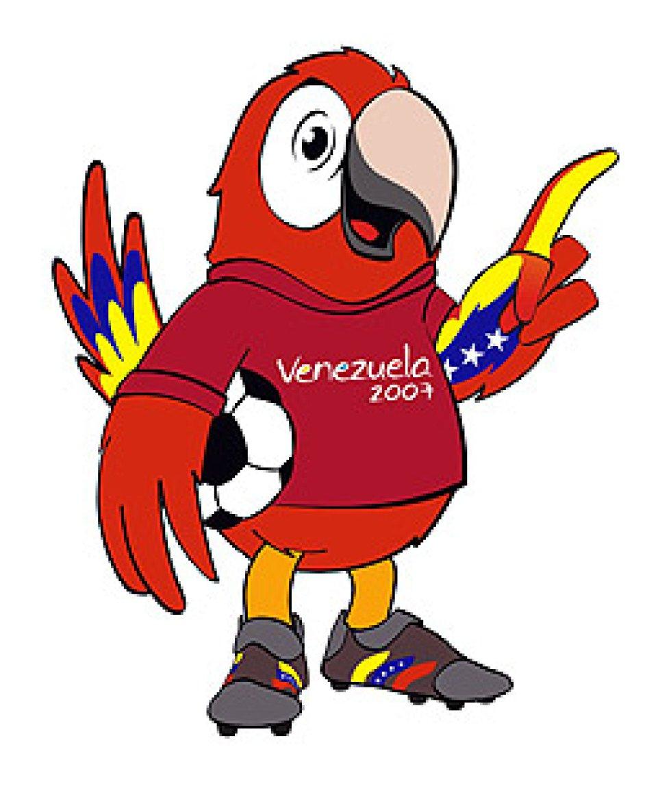 Mascota de la Copa América Venezuela 2007. Era una Guacamaya que tenía la bandera de Venezuela pintada en sus alas y una camiseta vinotinto como la de la Selección.