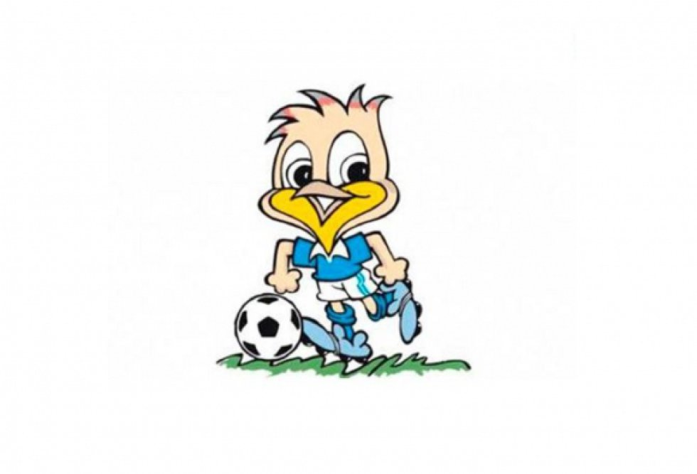 Mascota de la Copa América 1989. Era una Sabia, ave típica de Sao Paulo.