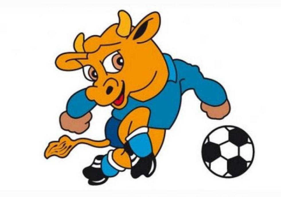 Mascota de la Copa América Uruguay 1995. Era un toro, por la fuerza de la industria agropecuaria en el país, el cual llevaba los colores de Uruguay.