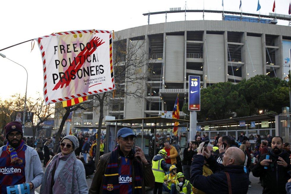 FC Barcelona Protestas Tsunami democratic 18D: Así fue la protesta previo al Barça-Madrid