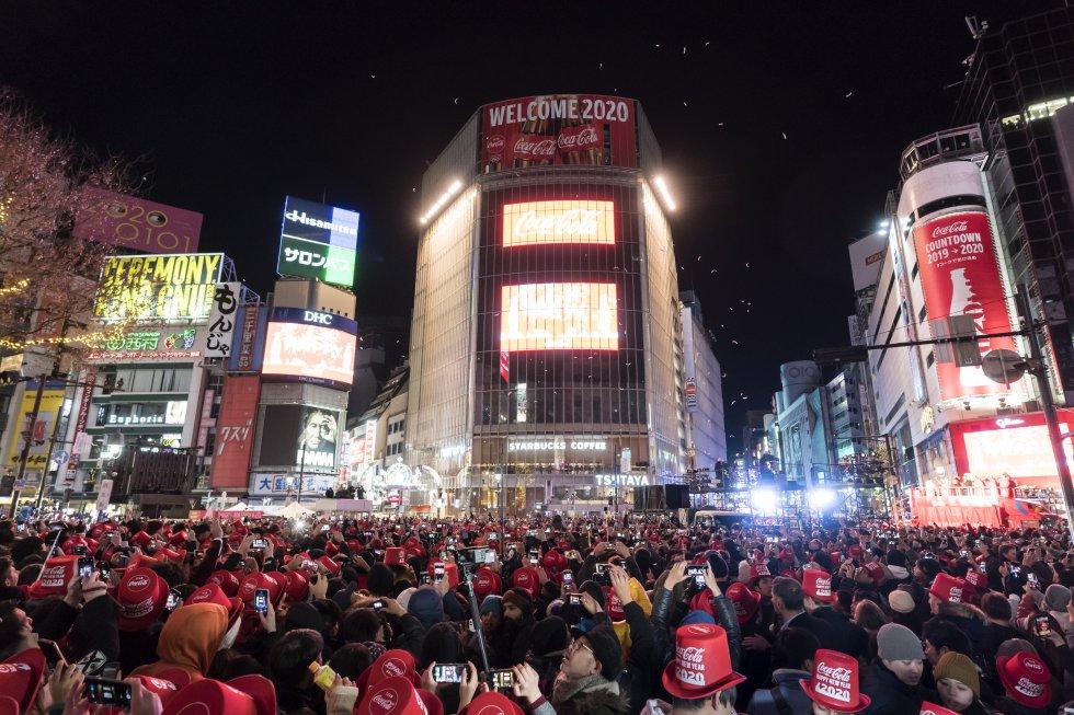 En Tokio, Japón, decidieron recibir el año nuevo durante el evento You Make Shibuya Countdown 2019-2020.