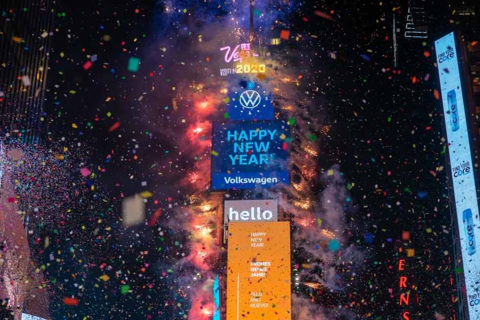 Nueva York como todos los años celebró la llegada de un nuevo año.